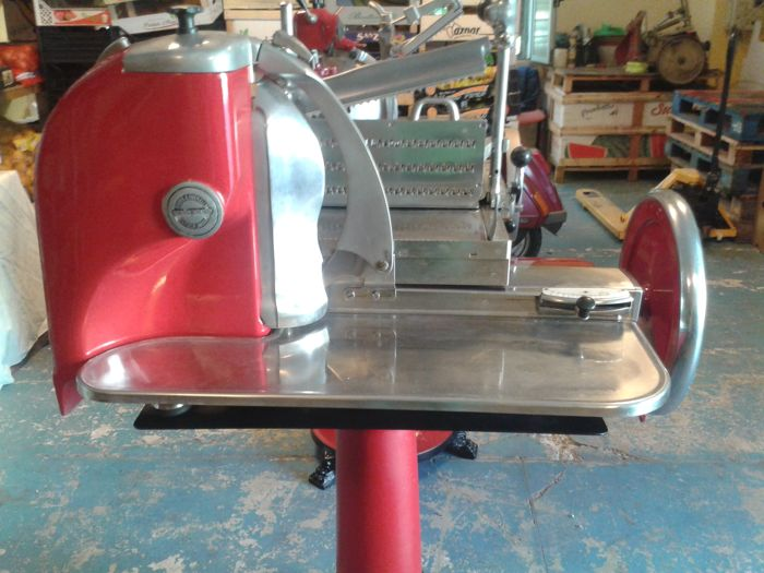 Berkel flywheel slicer with stand