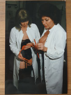 Foto; 8 Color-Originalfotos mit BDSM Szenen aus Domina-Studio - 1988