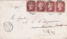 Great Britain 1866/99 - a selection of 7 covers for Germany and France