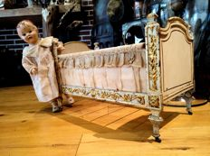 Doll's bed, late 19th century, Paris France.