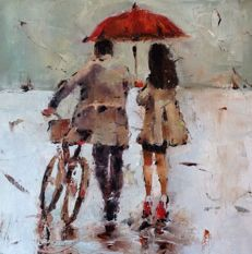 Elena Prokopenko - Raining in the city.