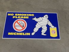 "Vintage Original Foam Particle Board Michelin Garage Advertising Sign ""No Smoking Please""  in Very Good Vintage Unused Condition"