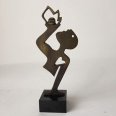 Anne Kemerink-de Leeuw - Signed metal  and limited (76 / 300) sculpture - Saval.