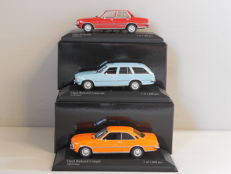 Minichamps - Scale 1/43 - Lot with 3 Opel Rekord models