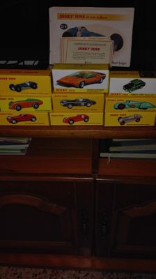 Atlas-Dinky - Scale 1/43 - Lot of 9 race cars: Aston Martin, Talbot-Lago, Alfa Romeo, Simca, Mercedes-Benz, Auto Union, & Hotchkiss