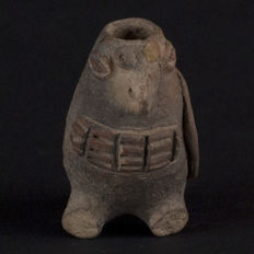 Mould-made pottery Bird Whistle - H 7cm