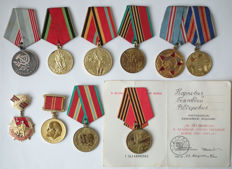 USSR/Russia -  10 Different Medals