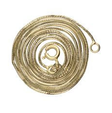 14 kt yellow gold snake link necklace with a lobster clasp – 3 grams – Length: 48 cm