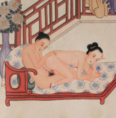 Oriental erotica; Chinese erotic leporello - 2nd half 20th century