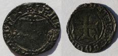 "Portuguese ""1/4 Real Cruzado"" silver/billon coin of  IHNS I (1385-1433)"