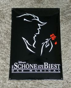 Rare Enamel Plate - Disney Musical The Beauty and the Beast (German Version)