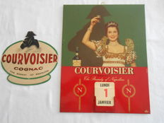 COURVOISIER Cognac - silkscreen-printed sheet metal - 1960 and 1950