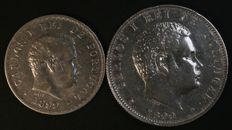 Portugal – 500 and 1.000 Réis in SILVER – 1899 – D. Carlos I – Lisbon