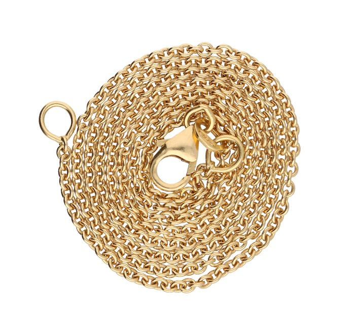 Necklace - 14 kt yellow gold - length: +- 45 cm