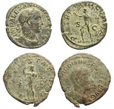 Roman Empire - Severus Alexander, Gordianus III Pius. Lot comprising 2 AE Pieces.