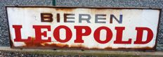 Bieren Leopold emaille bord