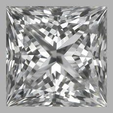 0.40ct  Princess Brilliant  E VS1  GIA-#1756-original image -10x