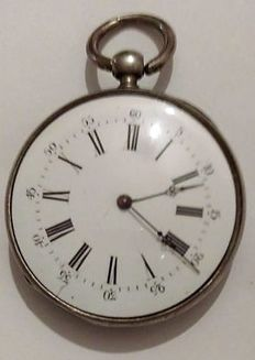 Silver pocket watch – 72380---224l – Men's – 1850-1900