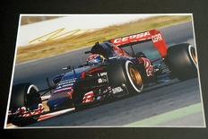 Professionally framed image, personally signed by Max Verstappen