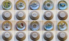Ceramica Solimene - Vietri - Collection of 20 Buon Ricordo dishes