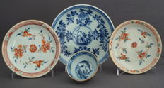 Collection of three plates and a bowl - China - 18th century - Kangxi and Qianlong period