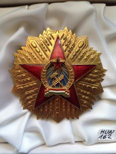 Hungary, Order of Merit of the Hungarian People's Republic, 1st. Class. Breast Star, 70 mm, 1949-1953. With box.