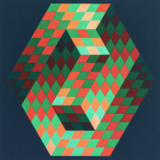 Victor Vasarely - Composition No.3