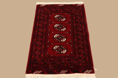 Handwoven Afghan carpet approx. 127 x 84cm
