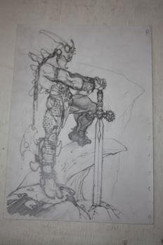 Simone Bianchi - Preparatory Drawing - 'Fire' - Signed - (Published in 2000)