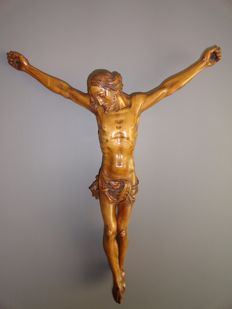 Large wood carved Corpus Christi - Flanders - 19th century
