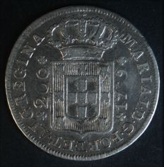 Portugal – 12 Vinténs in silver – 1799 – D. Maria I – Lisbon – REMINTED