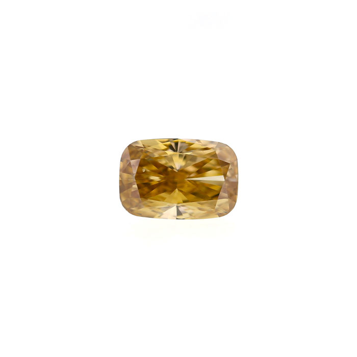 1.18 Ct. Natural Fancy Brown Yellow Cushion Shape Diamond.