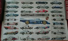 Porsche 924 Carrera GT 917 911 930 935 Moby Dick 904 550 356 Race car  sheet poster  (1982-1983)
