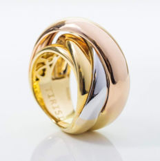 "Tirisi Jewellery – ""Amsterdam"" Tri-colour 18k women's ring - dize 55/17.5"