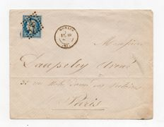France 1872 - letter for Paris cancelled GC 2387 Monaco stamped No. 60 Yvert