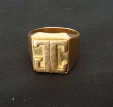 Vintage ring made of 34 grams of solid yellow gold