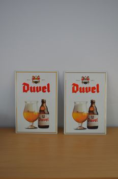 2 identical metal advertising signs - Duvel - 2000.