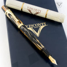 "Visconti  Ragtime Translucent ""tiger-eye"" Resin Fountain Pen 