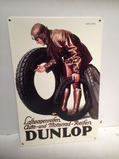 Dunlop Tires - Heavy steel sign - 2010 USA
