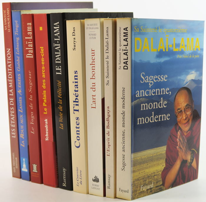 Lot With Nine Books About The Dalai Lama And Tibet In The