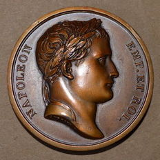 France - Medal 'Napoleon I / Erection of the monument to Desaix' (1810) by Andrieu - Bronze