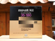 Maxell XLII type EE 35-180 Sound Recording Tape for Studio Mastering use 26 cm NAB metal precision reel