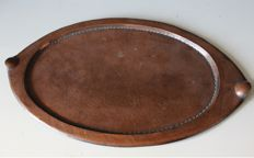 Arts and Crafts - hand hammered large copper serving dish