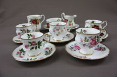 Elizabethan - Paracon - Cambrige - cups and saucers, ,ilk and sugar set and cup