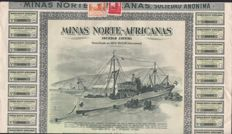 Lot of 17 items Minas Norte Africanas  - Beni Enzar 1956 - Marruecos - Accion de 1000 pesetas -DEKO