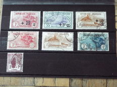 France - Selection of Stamps - Yvert no. 166 to 168 and 229 to 232 - Alsace 1940 Deutsches Reich - And between 112 and 353.