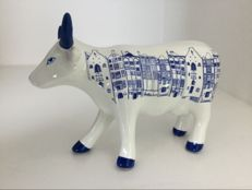Cow Parade - Cow Amsterdam - medium - ceramic in original box.