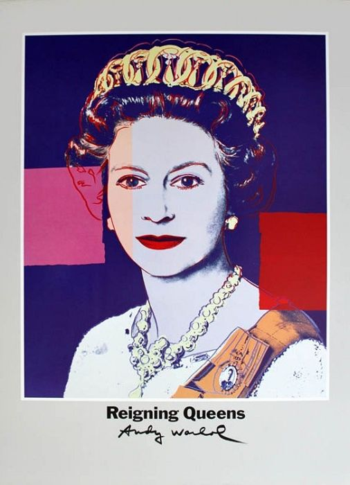 Andy Warhol-Queen Margrethe II of Denmark-1986 Poster