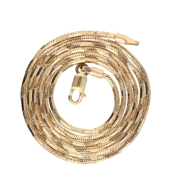 Necklace - 14 kt yellow gold - length: 46 cm