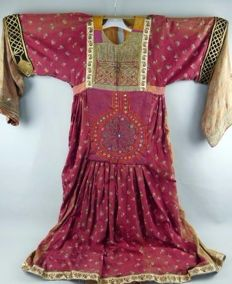 Ancient embroidery Tibetan dress  19th century